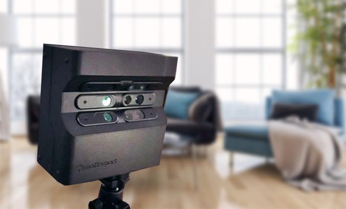 Bilden föreställer en Matterport 3D Pro kamera